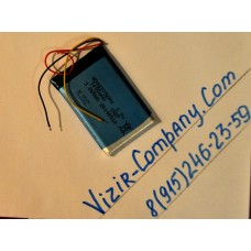 Аккумулятор Li-ion 3pin 1050 mAh 3.7V wd483756pn 55х35х3мм
