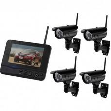 Беспроводной комплект система охранного видеонаблюдения 8107JR4 4х канальный