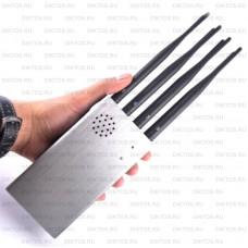 Портативный 15-ти частотный блокиратор сетей GSM 2G/3G/4G/Wi-Fi/Bluetooth Терминатор - 15С