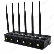 Стационарно -автомобильный подавитель Аллигатор 80 ЕГЭ  GSM/3G/4G с раздельной регулировкой частот