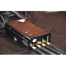 Карманный блокиратор GSM сотовой связи, 3G Интернета, Bluetooth, Wi-Fi (в том числе беспроводные радио камеры 2.4 ГГц), «Хамелеон» с раздельным включением частот